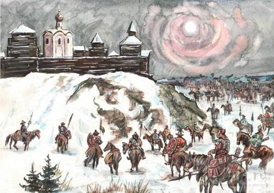 вопрос, иллюстрации к монгольскому нашествию на русь народа