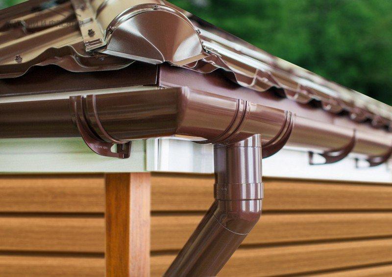 Система водостока для крыши дома