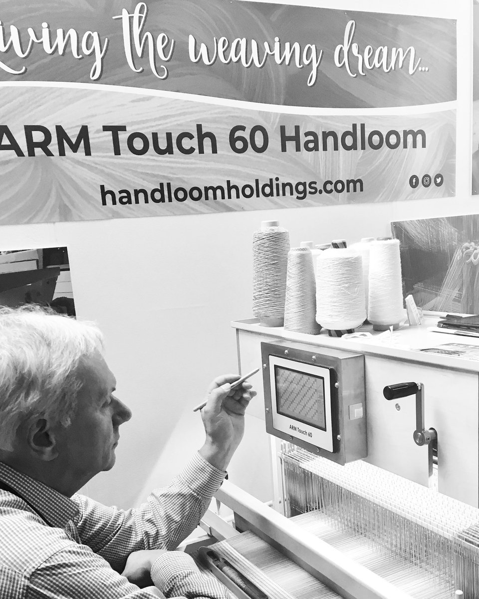 Did you know there are 44 weave structures preset in to the ARM Touch 60 hand loom.  There is a touch pen so you can design all of your own weave patterns straight onto the screen and 999 lines to play with so your pattern can be as long or as short as you want #loom #armtouch60