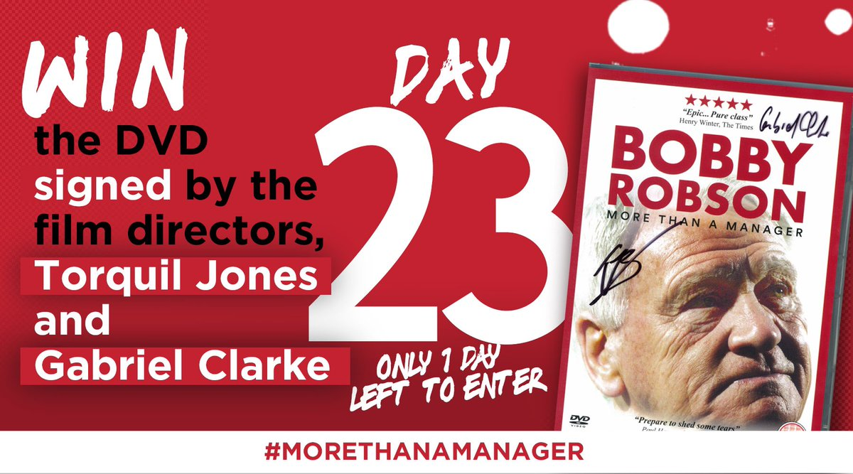 DAY 23: #Win the UNMISSABLE #MoreThanAManager DVD, Signed by Film Directors Torquil Jones & Gabriel Clarke!   Who NEEDS to watch this film?  RT and tell us who to enter.  Closes by 11:59pm.  #Christmas   #Competition #Giveaways    Ts&Cs