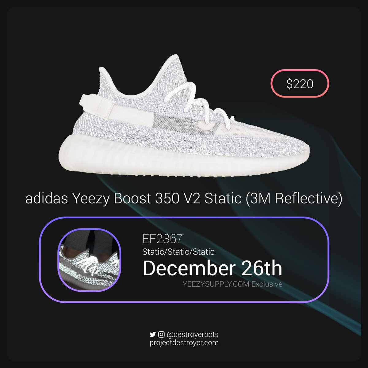 d1d9a02e9 ... Yeezy Supply exclusive. This looks to be the first limited release in  almost a year for Yeezy. Who s looking for a late Christmas present on the  26th