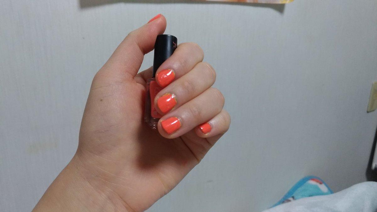 test ツイッターメディア - ダイソーのカンコレ 剥がせるネイル オレンジを塗りました?? 元気系オレンジで可愛いです?? 気に入りました? #ダイソー #カンコレ #セルフネイル https://t.co/2xNSYuIbrD
