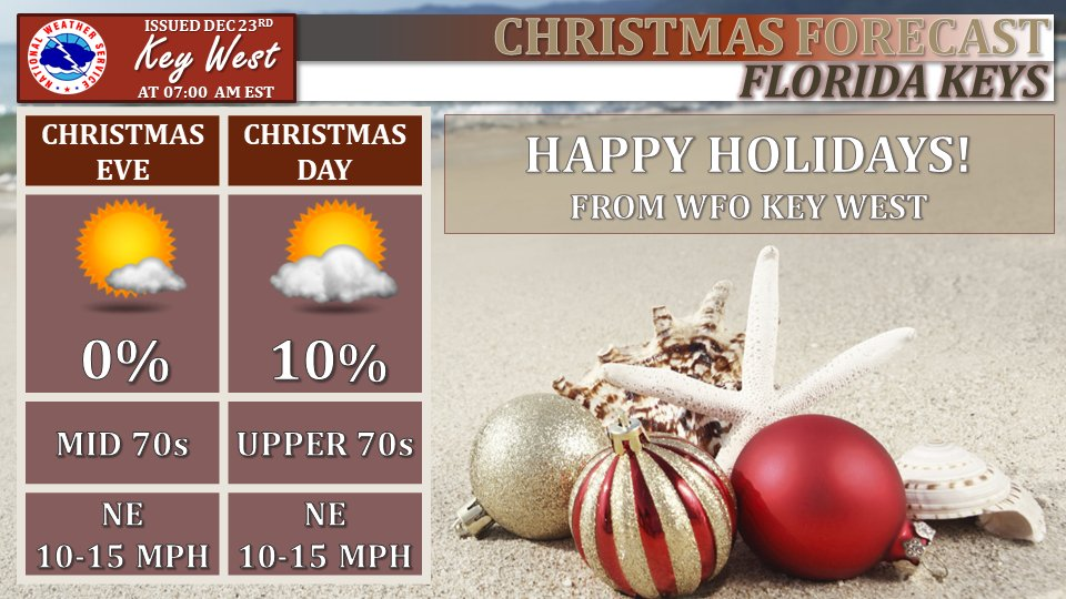 Christmas In Florida Keys.Nws Key West On Twitter Spectacular Weather Expected For