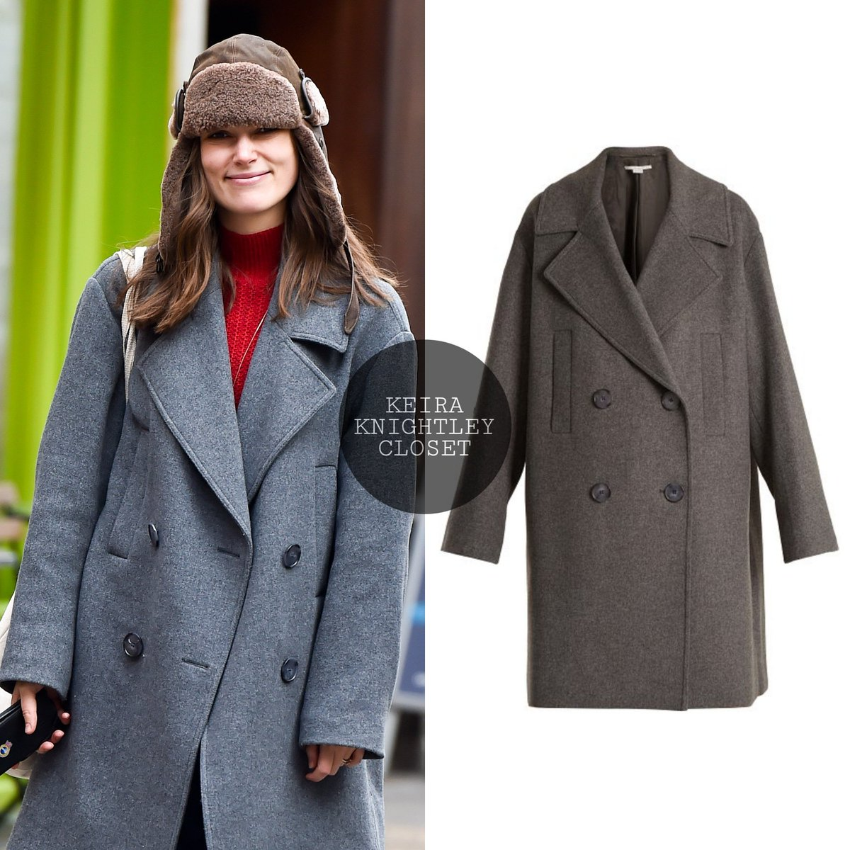425afa454c4 #KeiraKnightley out in London on Dec. 19th, 2019 wearing @StellaMcCartney  Imelda Oversized