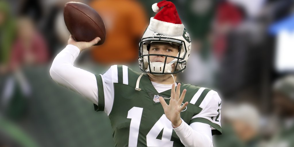 a4ec60d79 watch sam darnold stays jolly with holiday jets sweater ahead of packers  showdown