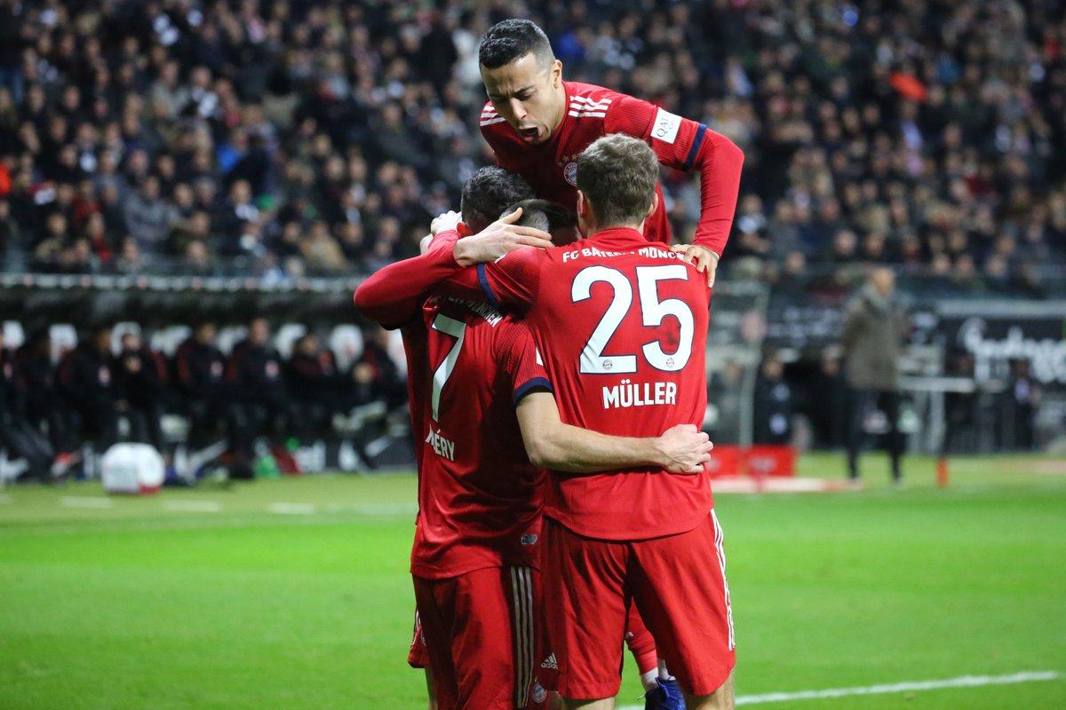 Der 3:0 Sieg in Frankfurt zum Jahresabschluss war genau das richtige Zeichen! 👍😃 #FCBayern #MiaSanMia #esmuellert #SGEFCB #Bundesliga