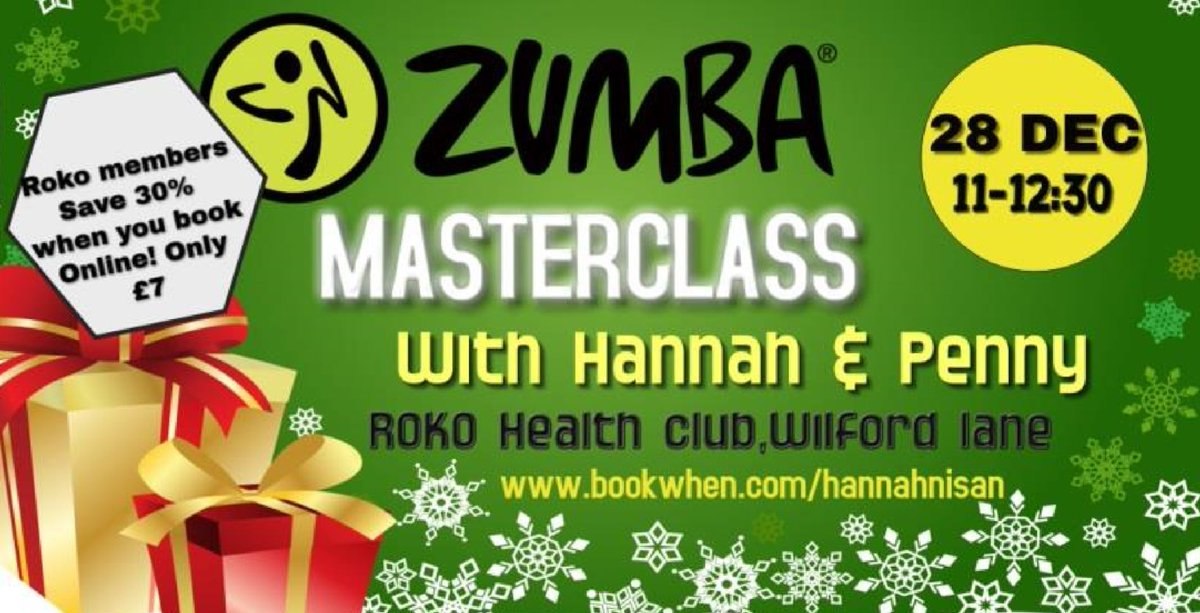 Zumba Christmas Images.Rokonottingham On Twitter Still Time To Book Your Spot On