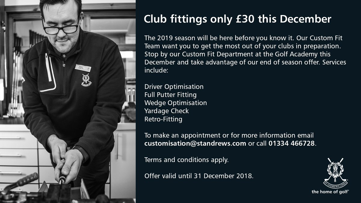 303591964d8f9 Swing by our Custom Fit Department at the Golf Academy and have your clubs  optimised in time for 2019!pic.twitter.com/p4EtLKVu8S