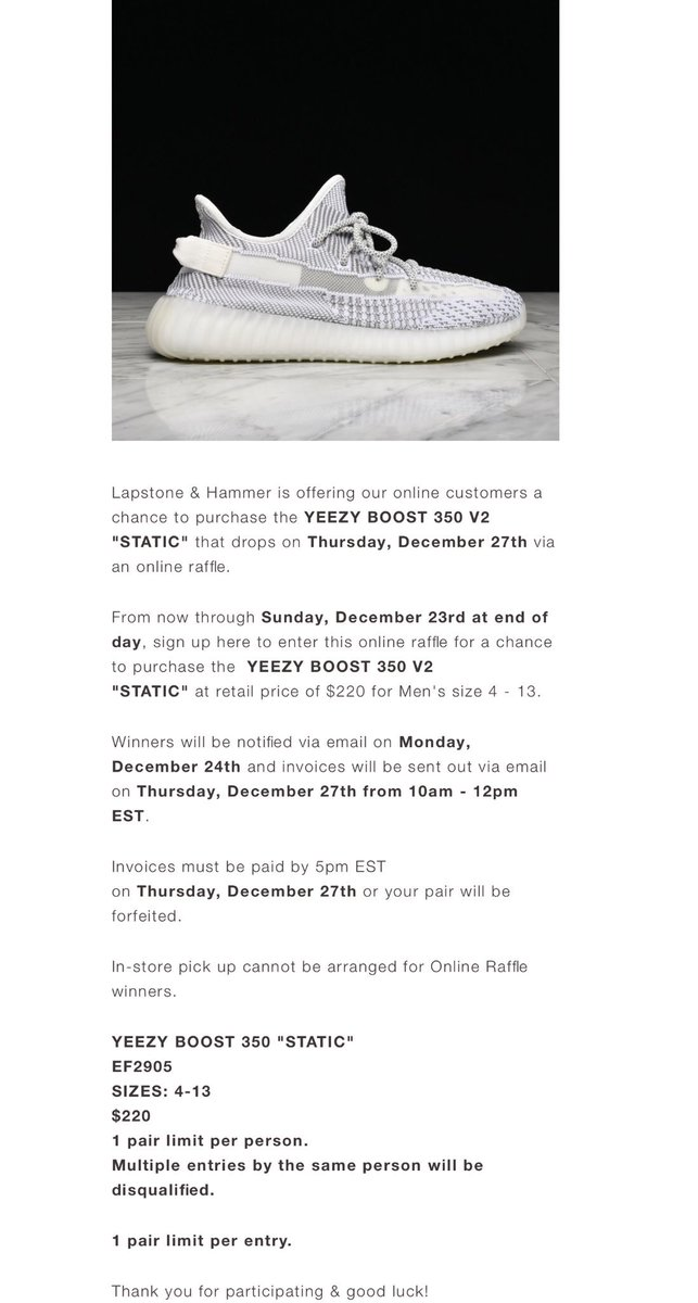 5199e40b0 Yeezy Boost 350 V2  Static  non-reflective online raffle with shipping (US  Only) LSAH https   bit.ly 2ReOdR2 Needsupply https   bit.ly 2KgY2rR Sesinko  ...