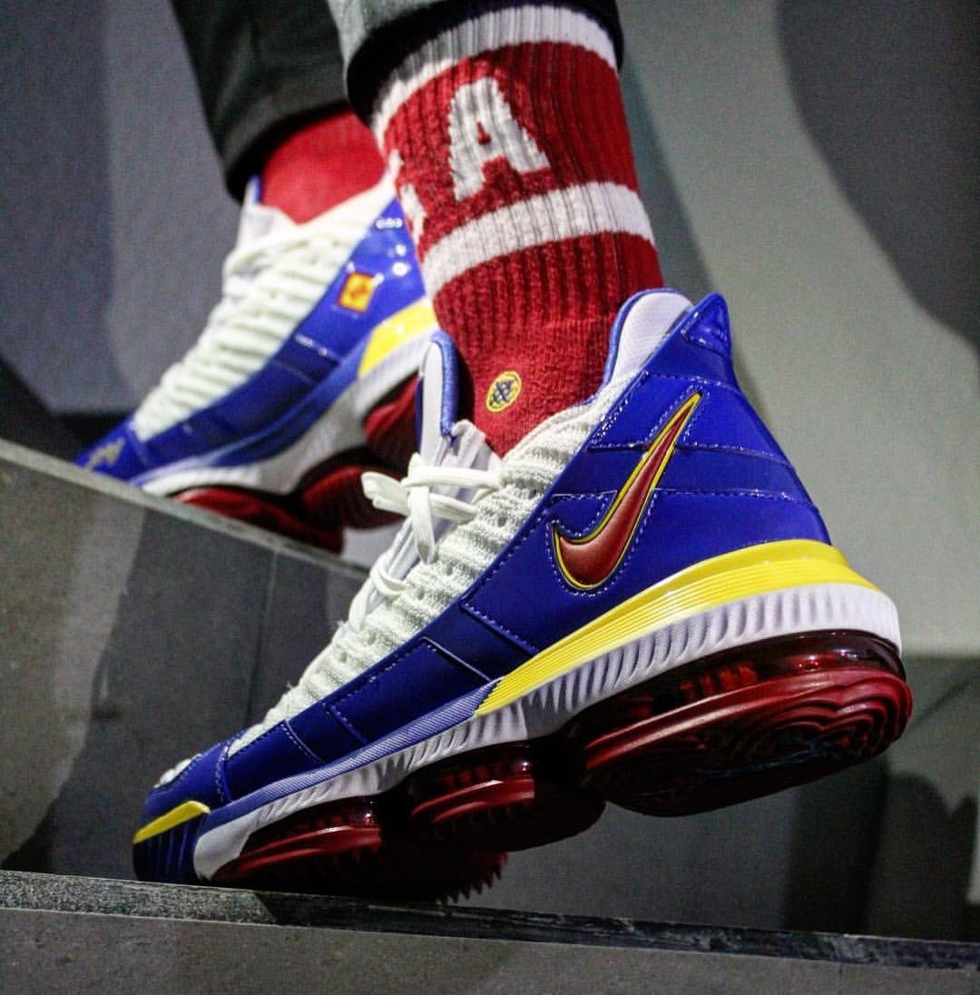 """87e6caecaf92  soletoday  ruizroyce (ig) already laced up """"superman"""" nike lebron 16s.  what s on your feet today"""