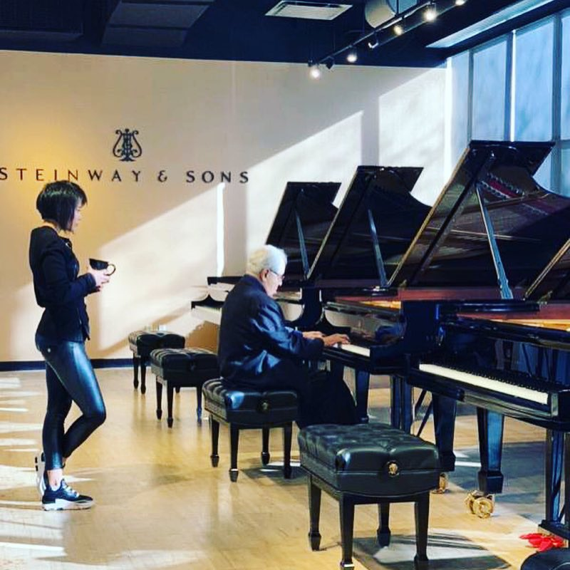 Reloaded twaddle – RT @YujaWang: Helping Gary to choose a piano for @CurtisInstitute. 🎹&#x2...