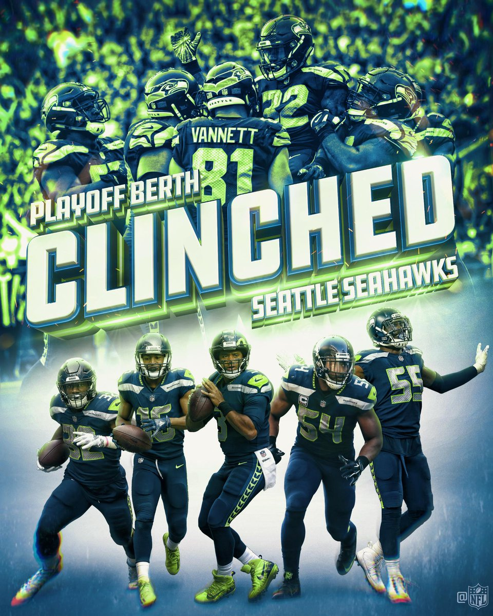 The @Seahawks are heading to the #NFLPlayoffs! #Seahawks