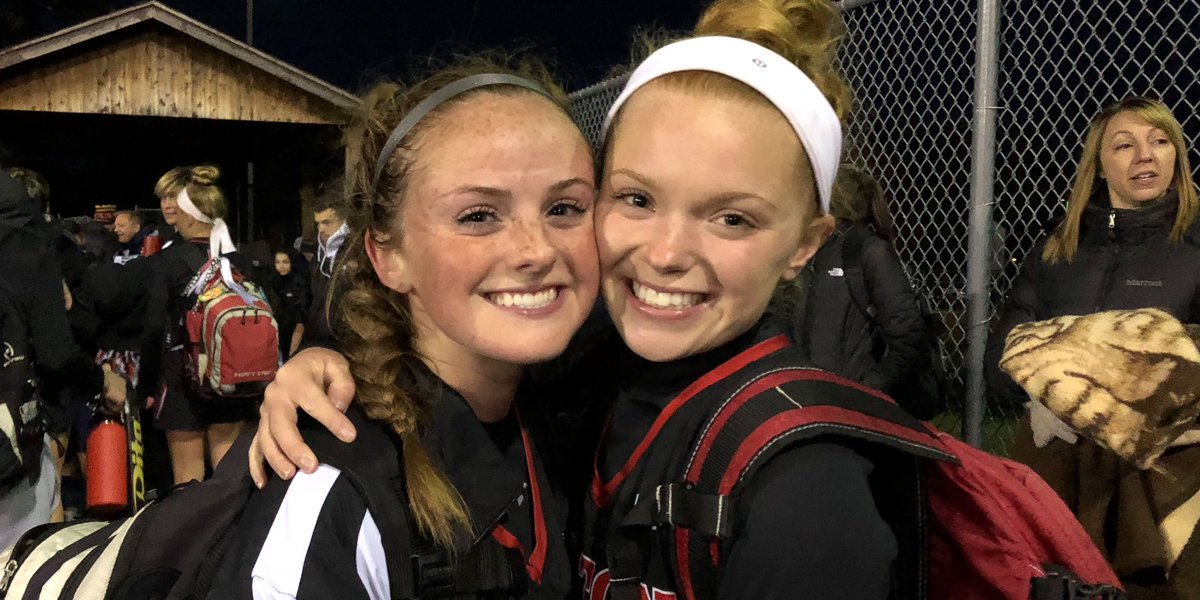 Congratulations fo junior Bridget Huber and senior Amanda Hilderbrandt as both were named All County 1st team and All Greater Rochester Honorable Mention for field Hockey. @HiltonCadets @Hilton_FH @amandahilde21