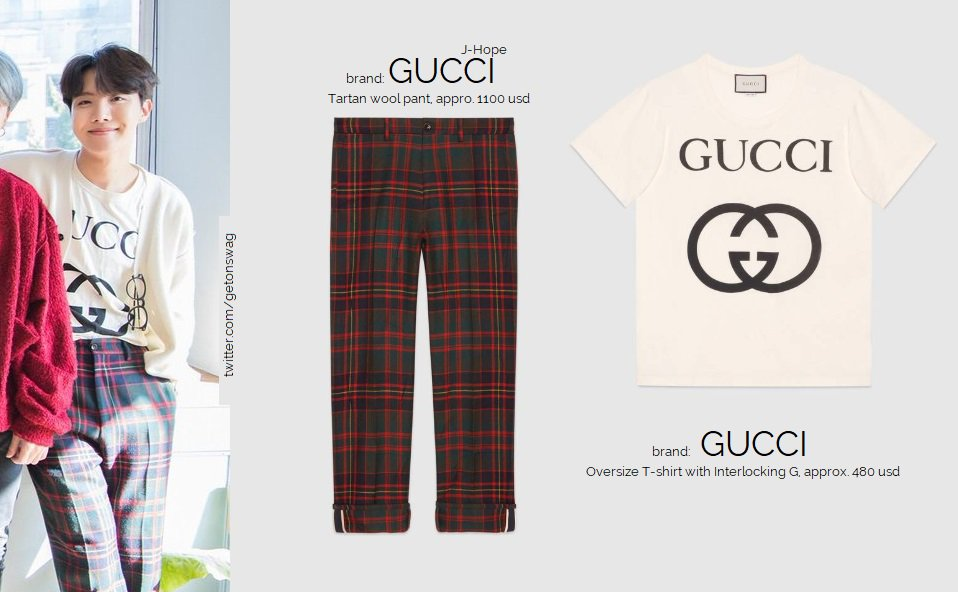 b1db0df08624 ... oversize T-shirt with Interlocking G Suga  SUGA SANDRO round neck  lobster sweater Namjoon  RM Wooyoungmi Paisley Crushed Shirt 181224  BTS   방탄 ...