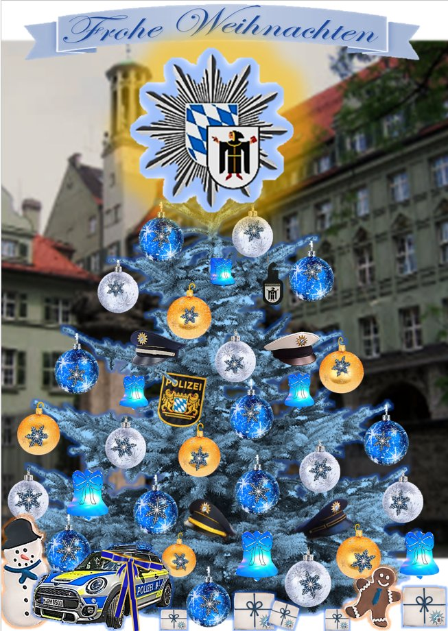 Weihnachtsgrüße Polizei.Polizei München On Twitter Unsere Ganz Besonderen Weihnachtsgrüße
