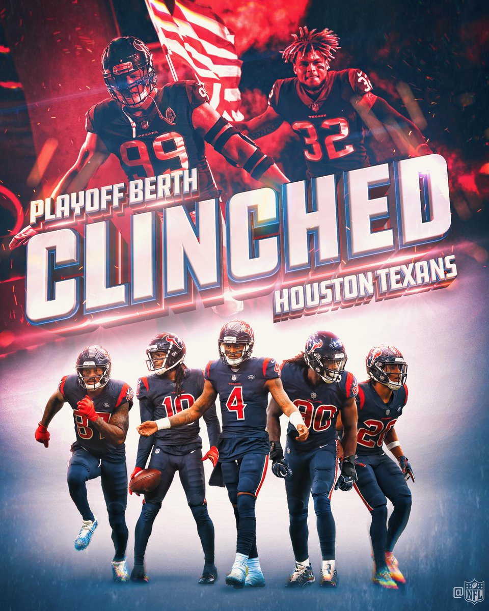 The @HoustonTexans are headed to postseason! #Texans