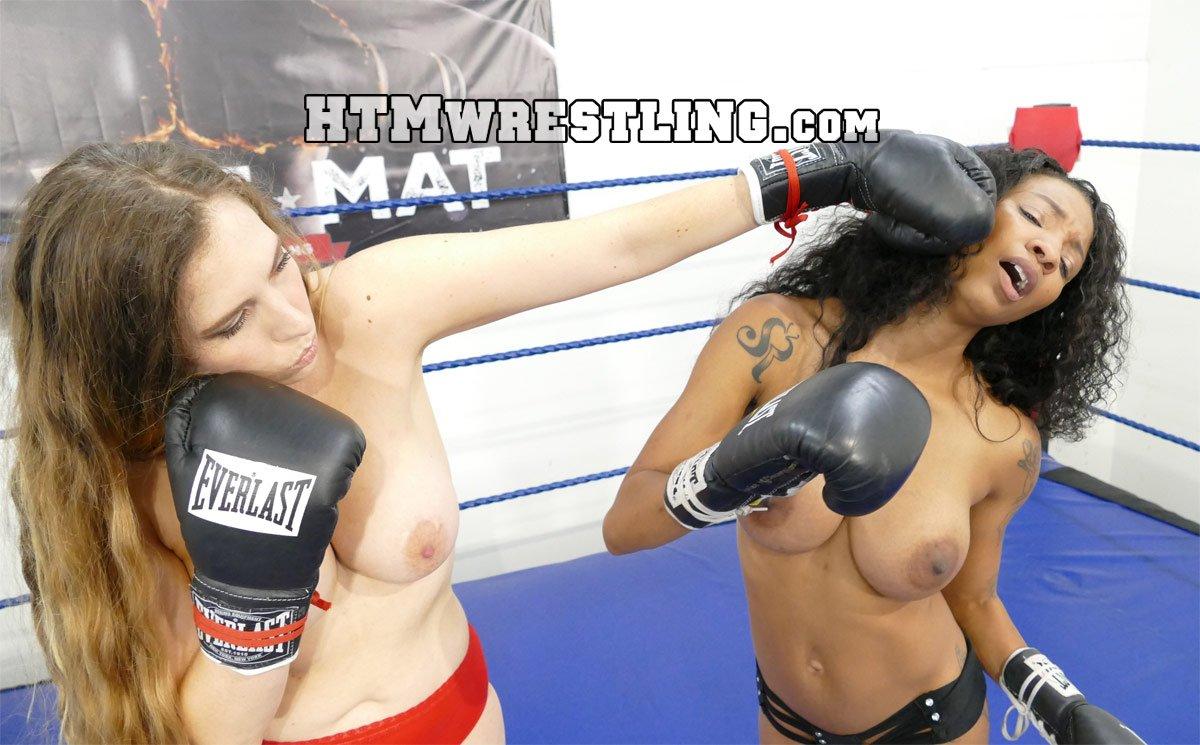 Naked female boxer beats you up