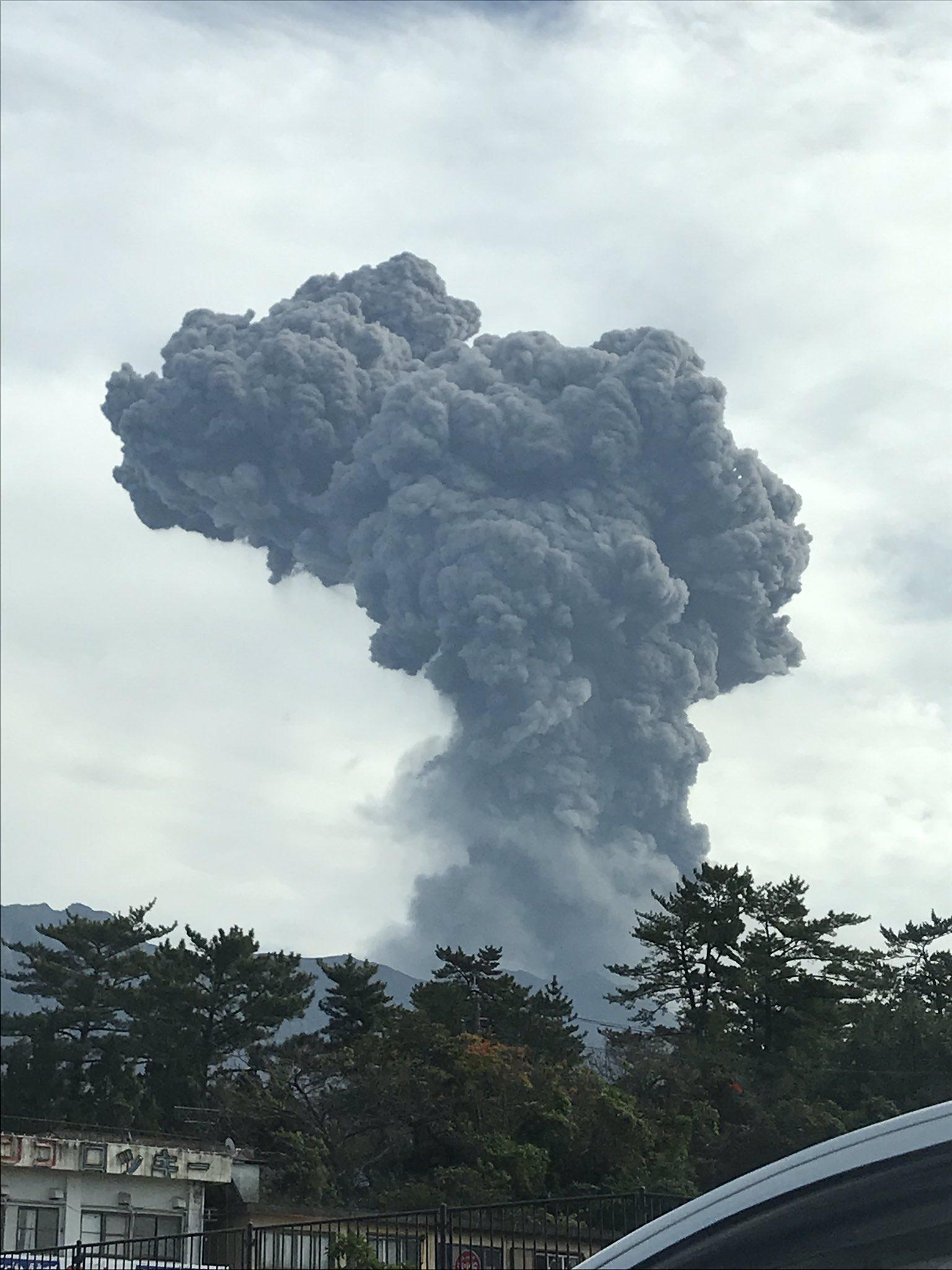 画像,桜島噴火!🌋 https://t.co/qUeZWU6zFX。