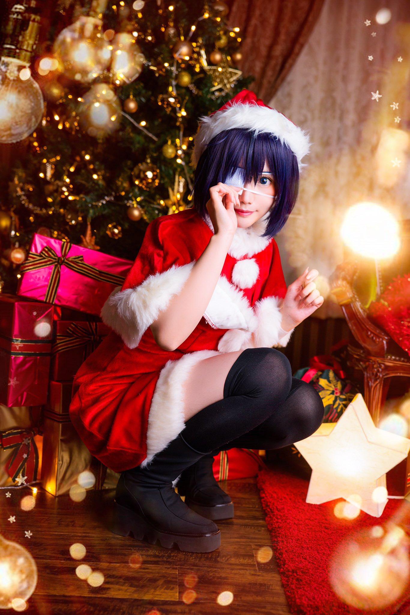 画像,【小鳥遊六花/中二病でも恋がしたい!】🎁🖤✟ Merry X'mas ✟🎄🌟photo:クロガネ#真喩photo https://t.co/0BLiF…