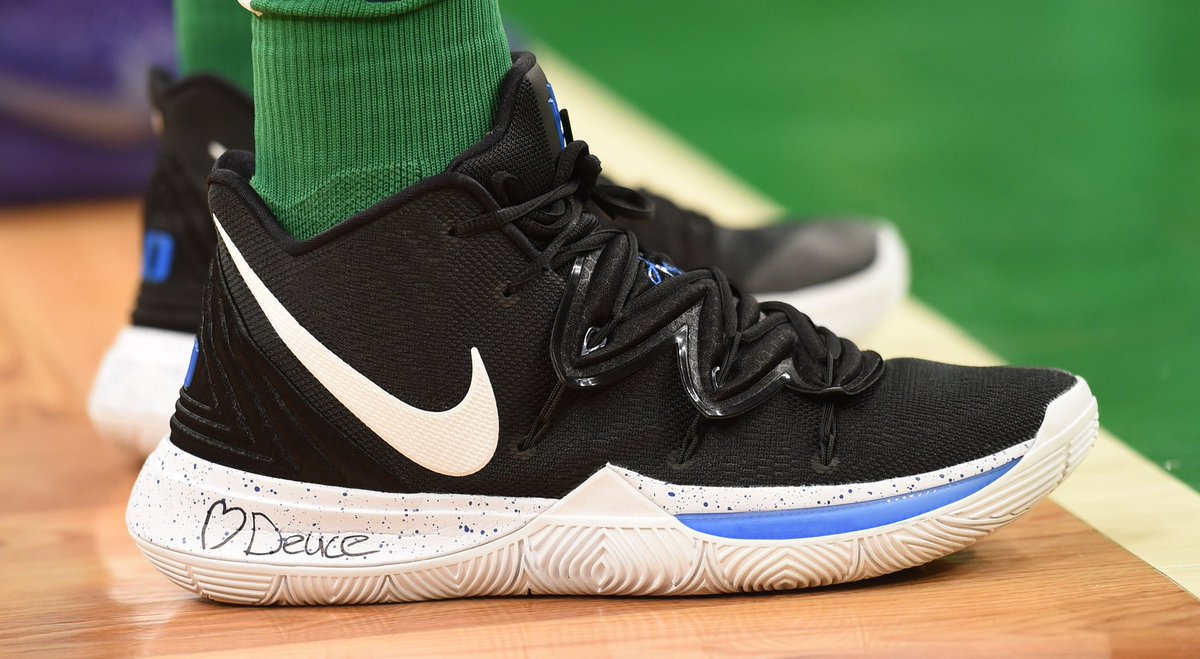 8c7cf6742396 solewatch jaytatum0 putting on for the brotherhood in duke nike kyrie 5s  bob dechiara
