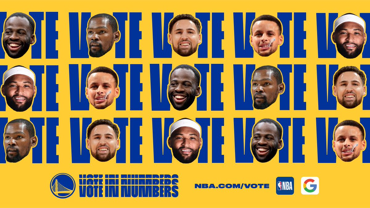 Go time. Give the gift of #NBAAllStar votes ⬇️     1️⃣ Visit http://NBA.com/Vote 2️⃣ Vote for your Dubs  3️⃣ Tell your friends