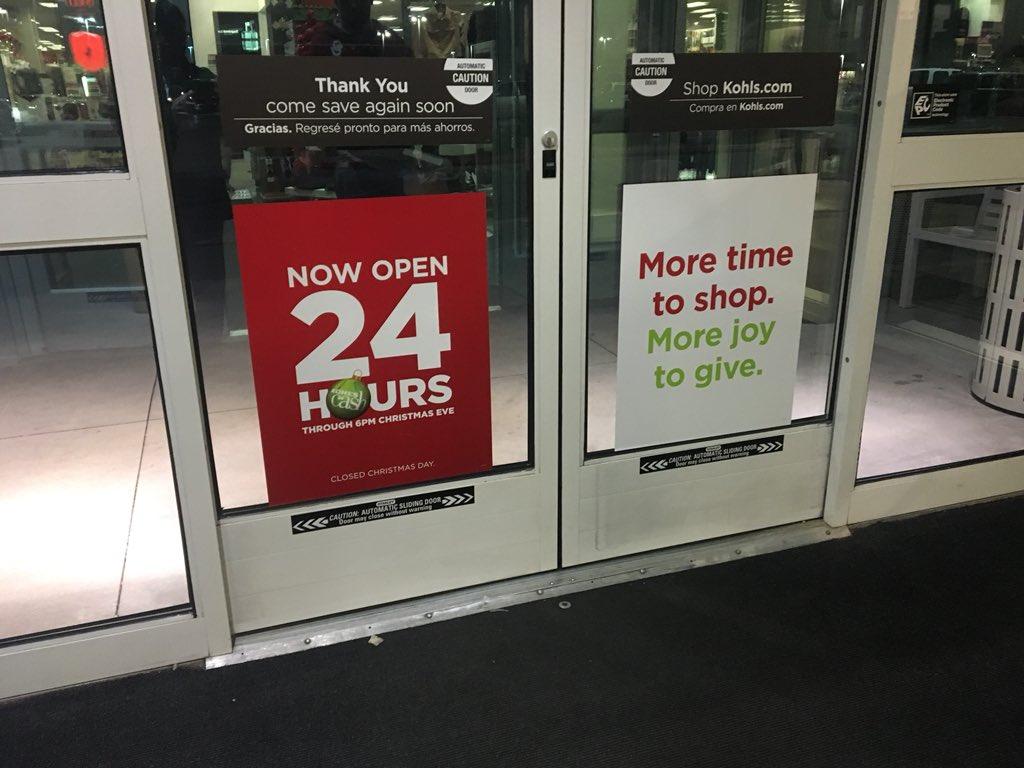 Is Kohls Open On Christmas Day.Orko Manna On Twitter Atttention Last Minute Shoppers