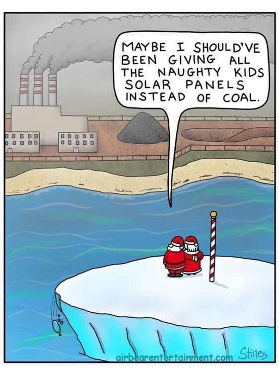 This year let's give all the naughty kids #solar instead. #ActOnClimate #renewables #cdnpoli #go100re
