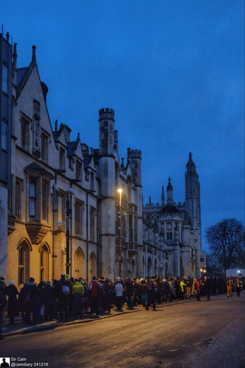 Sir Cam On Twitter Cambridge ChristmasEve 746am 24 December 2018 The Queue For A Festival Of Nine Lessons And Carols At Kings College