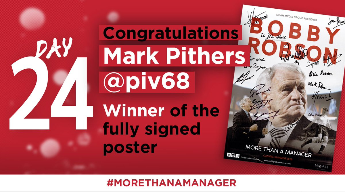 Congratulations to Mark Pithers @piv68 on being our final draw winner, you've been selected from our finalists to win the fully signed poster… Merry Christmas!  #Christmas #MerryChristmas
