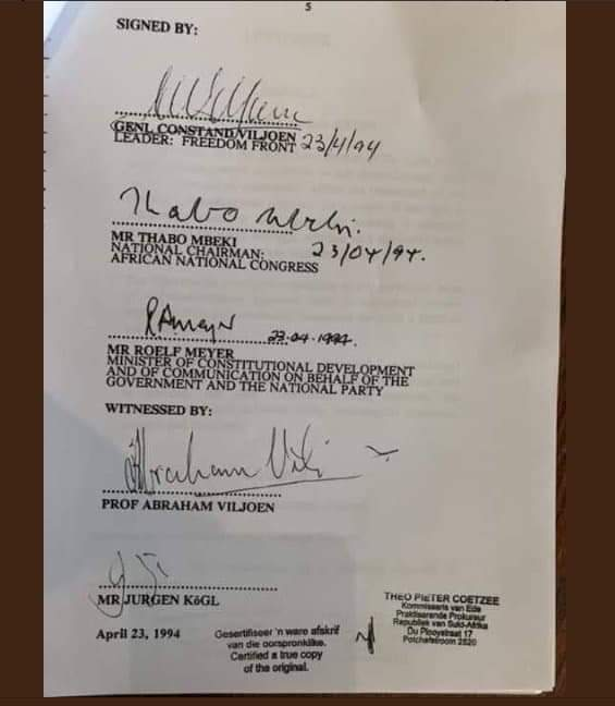 Image result for signed accord afrikaner self-determination