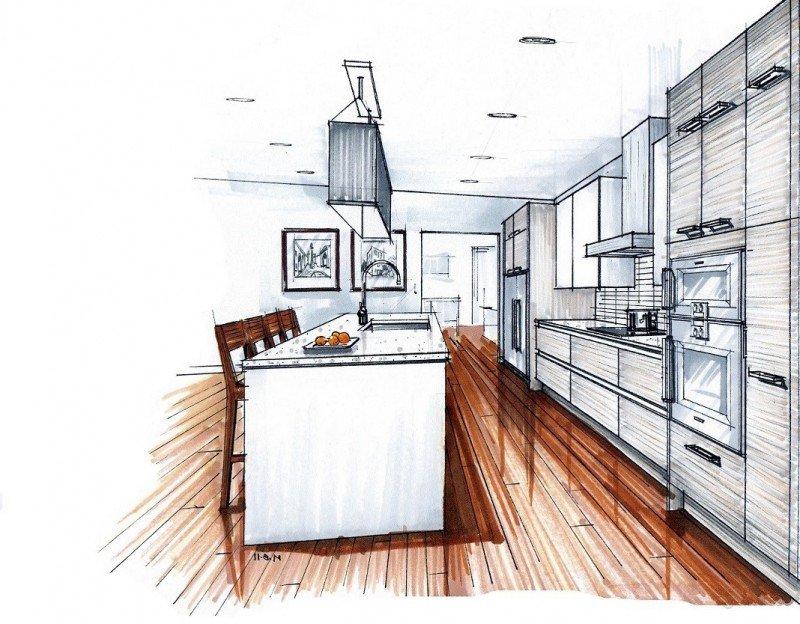 Картинка кухни на визитку