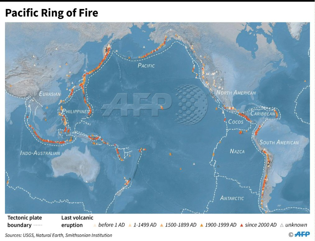 Map Showing The Pacific Ring Of Fire Indonesiatsunami Scoopnest Com
