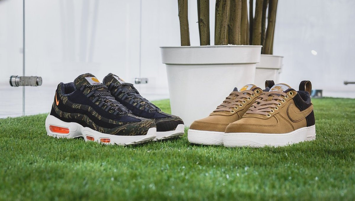 5dffc005e17d The Air Force 1 x Carhartt   Air Max 95 x Carhartt are now available  in-store on a first come