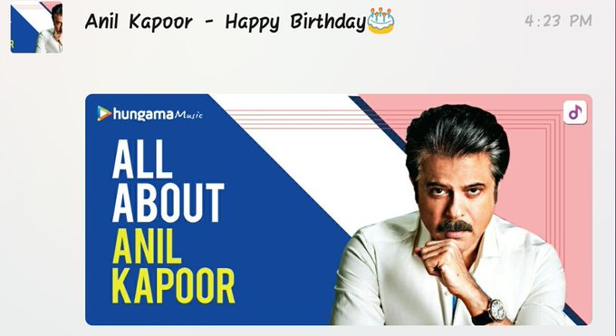 Happy birthday Anil Kapoor ji
