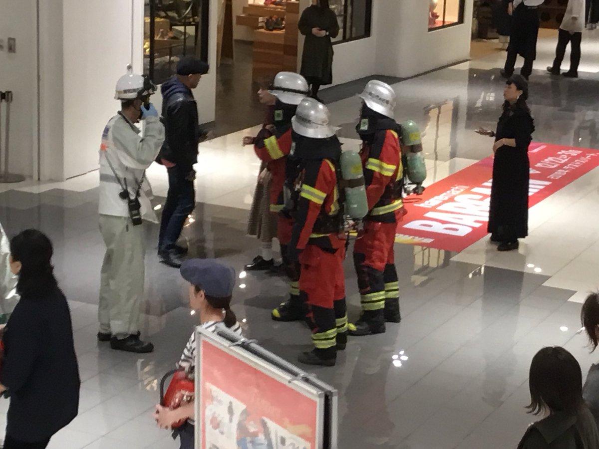 イオン岡山で火災騒ぎが起きた現場の画像