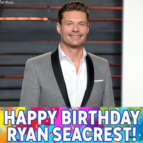"Happy Birthday to ""Live with Kelly and Ryan\"" co-host Ryan Seacrest!"