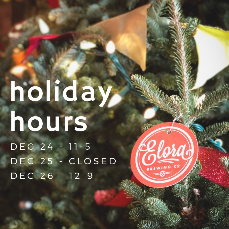 Special Holiday Edition Tis Season For >> Elora Brewing Co On Twitter Tis The Season For Special Holiday