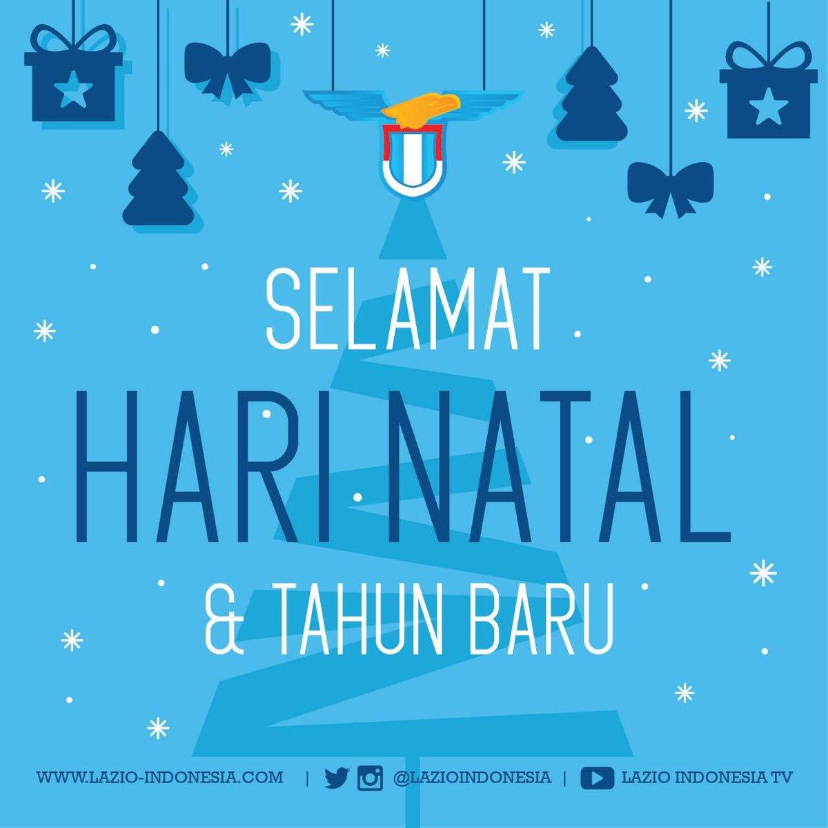 Lazio Indonesia mengucapkan Selamat Hari Natal, mari kita sebarkan kasih dan damai selalu. Kiranya Tuhan memberkati bangsa kita. Amin  We wish you a very Merry Christmas.  #ChristmasDay #XmasLazio #LazioIndonesia