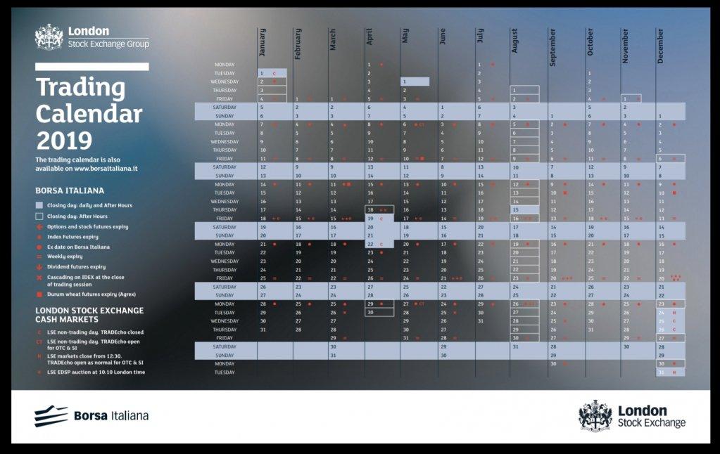 Calendario Borsa Italiana.Directa Sim On Twitter Trading Calendar 2019 E Uscito