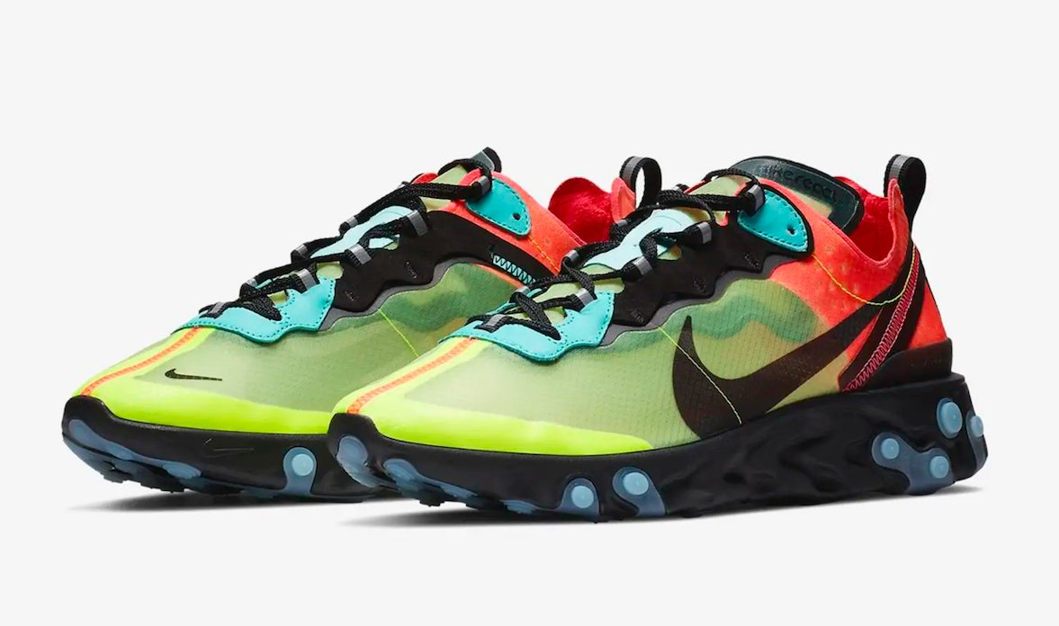 best service b6dc1 455c2 more colorful nike react element 87s are on the way
