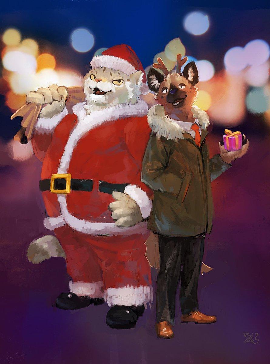 Aggretsuko Christmas.Rac N Commissionopen On Twitter Merry Christmas