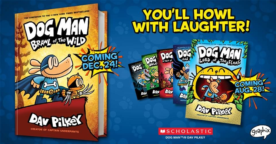 The big day is finally here! DOG MAN: BRAWL OF THE WILD is on sale now! We're open until 4 p.m. - come see us!