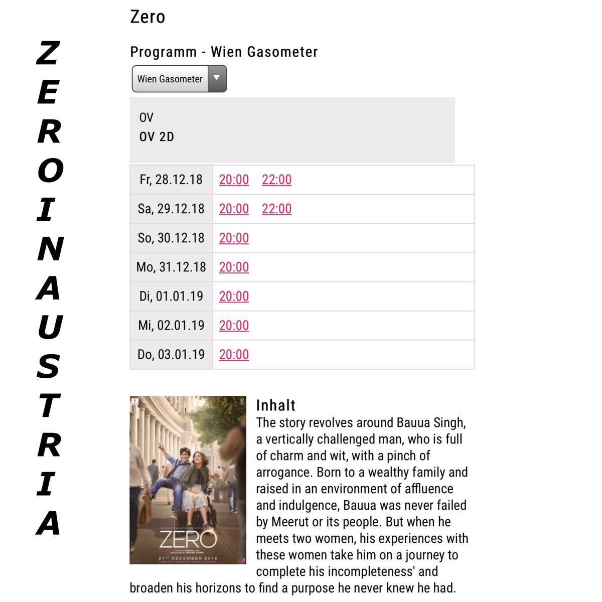 Srk Universe Austria On Twitter Zero Was Extended By 1 Week Due