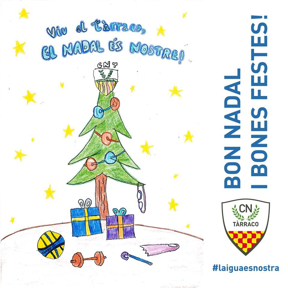 Us felicitem el #Nadal amb el dibuix de la Martina Carrasco, sòcia i  esportista de natació #artistica del Tàrraco que va guanyar el Concurs nadalenc del #Pintanadales! #BonNadal a tots!! @nataciocat #FelizNavidad #MerryChristmas