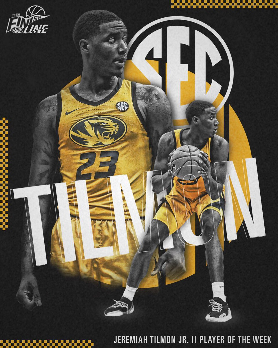 Jeremiah Tilmon Jr.   The @SEC Player of the Week!   #ToTheFinishLine 🏁🐅