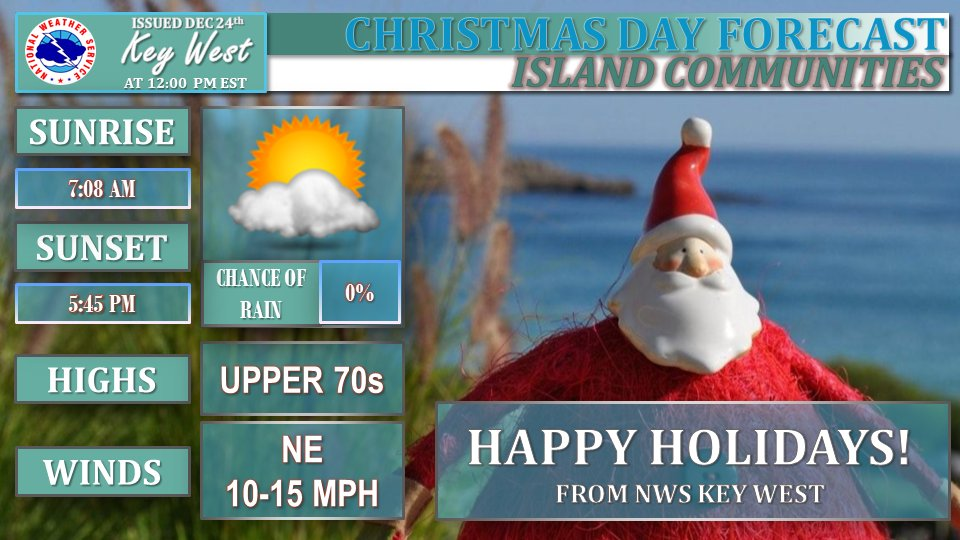 Christmas In Florida Keys.Nws Key West On Twitter Christmas Day Is Looking Fantastic