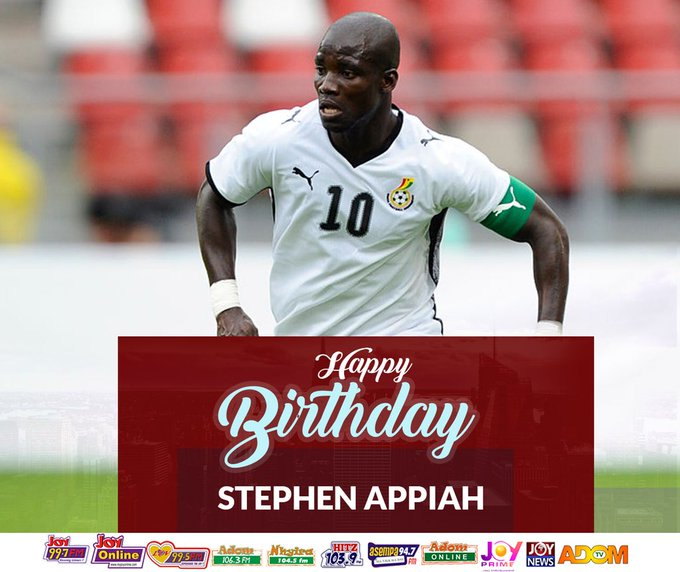 Happy birthday to former Black Stars captain Stephen Appiah
