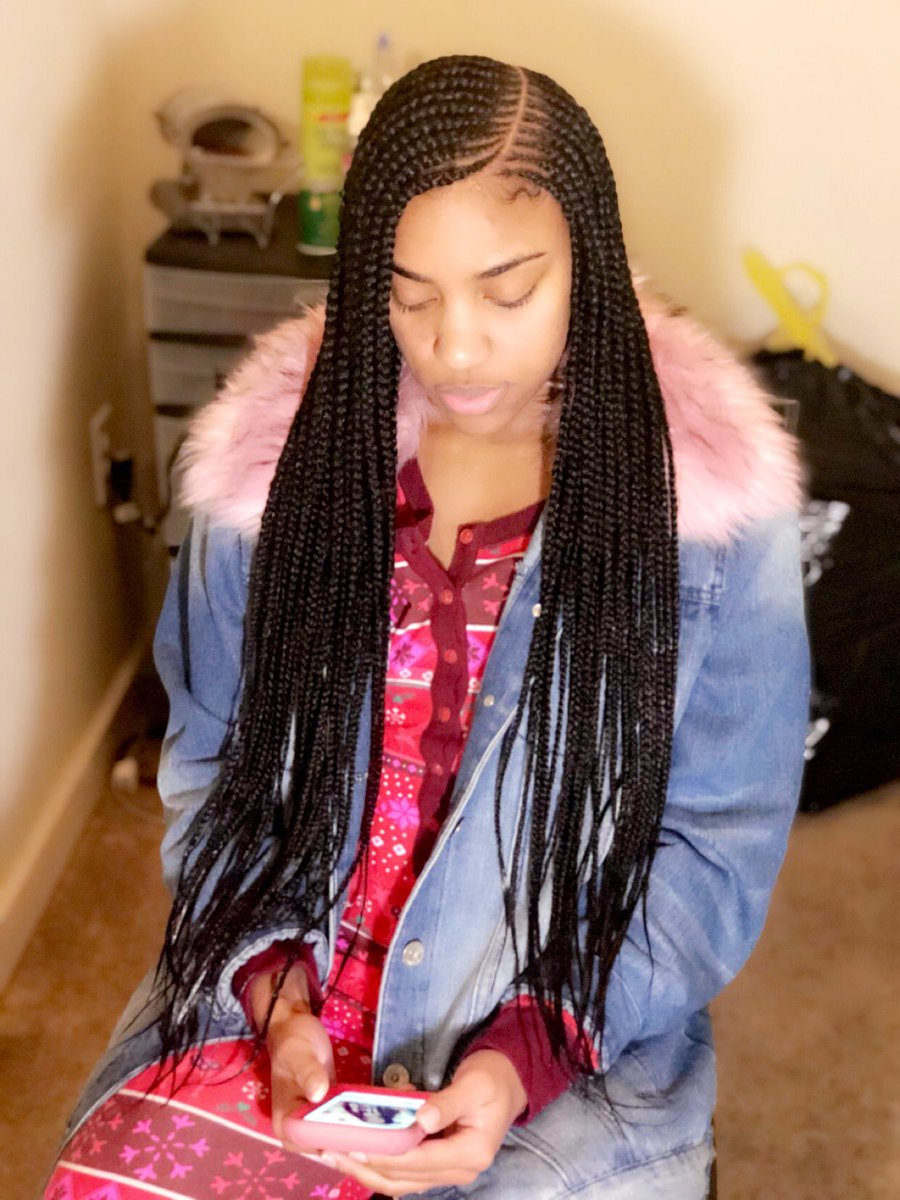 2 layer side part tribal braids 😍🥰 love doing different