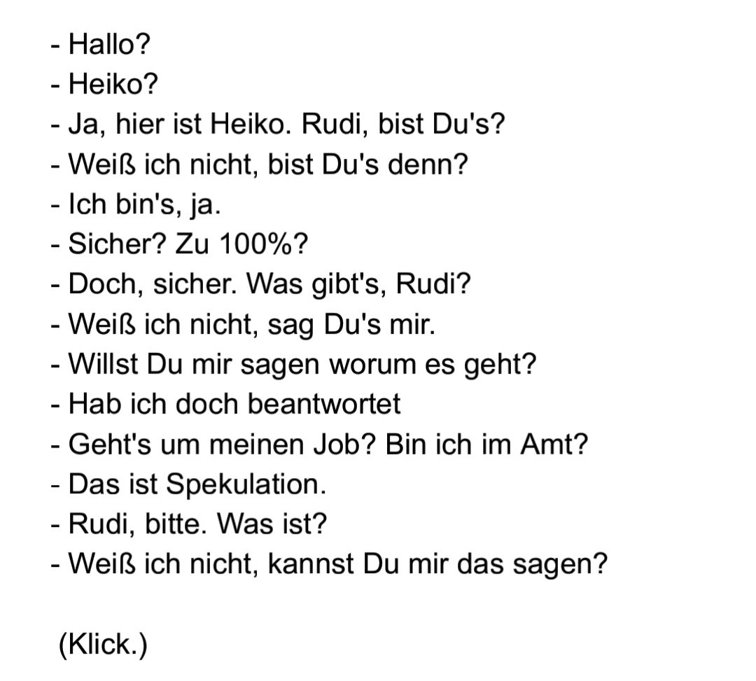 Felix Esch On Twitter Zum Heiligabend Die Geleakte Transkription