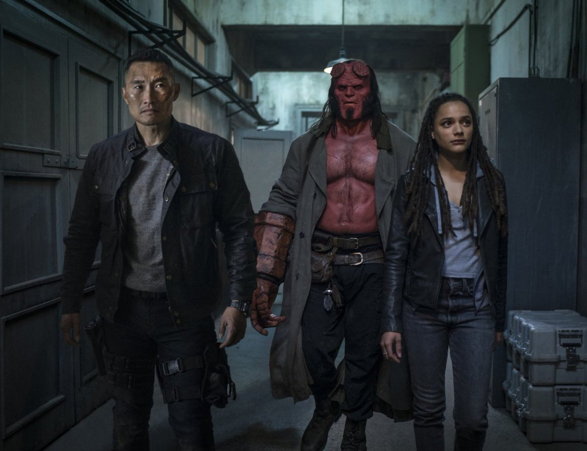 'We fight against the forces of darkness.' #HellBoy is back!